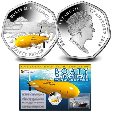 boaty mcboatface it just had to happen boaty mcboatface gets a coiny