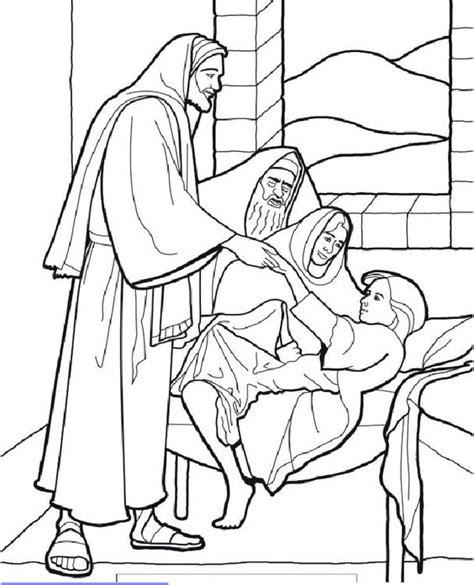 coloring pages jesus heals sick boy jesus healing sick lds coloring christian