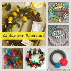 Diy Summer Decorations For Home by 21 Summer Wreaths Diy Decor