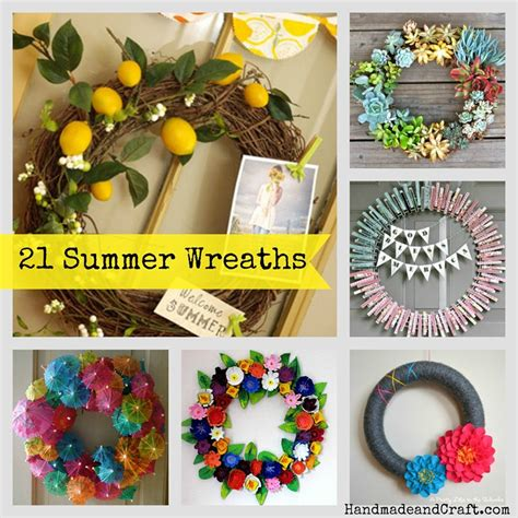 diy summer decorations for home 21 summer wreaths diy decor