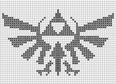 cross stitch pattern zelda cross stitch pattern triforce cross stitch pinterest