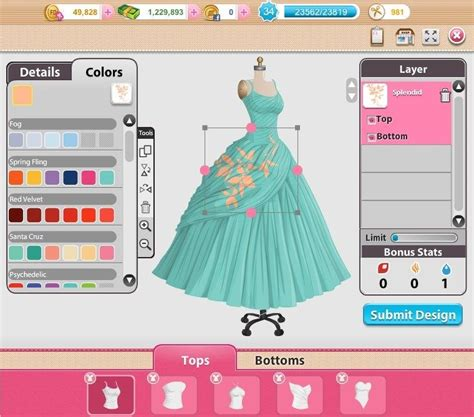 design game fashion designer glamour square