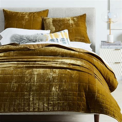 Lush Velvet Quilt   Shams   west elm