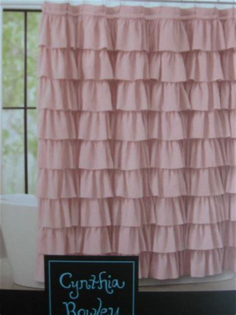 cynthia rowley ruffle shower curtain cynthia rowley ruffled shabby chic cottage flamenco shower curtain nwt pink not to shabby chic