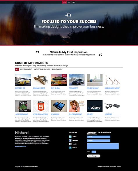 portfolio responsive template responsive portfolio template hotthemes