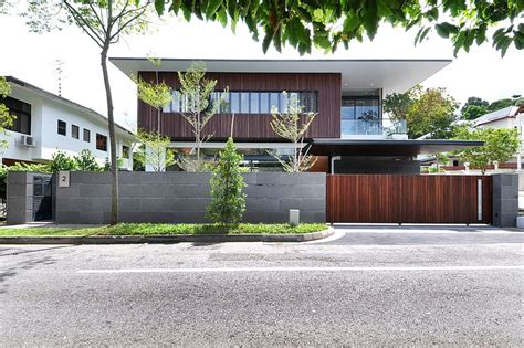 stylish bungalow inspired residence in singapore sunset