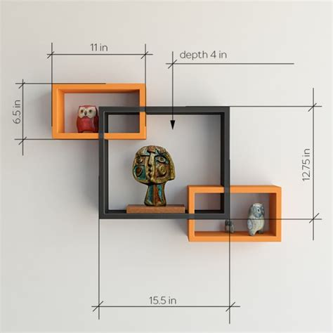 Intersecting Wall Shelf by Intersecting Floating Wall Shelves For Storage Display