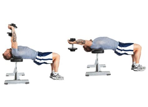 single dumbbell pullover across bench chest workout 2 muscle growth workout routine for