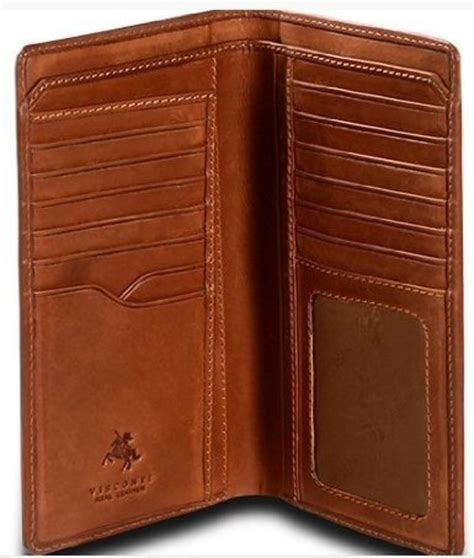 Visconti VICENZA VCN 20 Leather BIFOLD Tall Slim ID WALLET / Checkbook TRAVEL Wallet   Swish Wallets