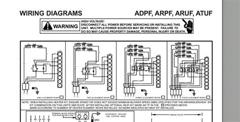 goodman electric furnace single element wiring diagram