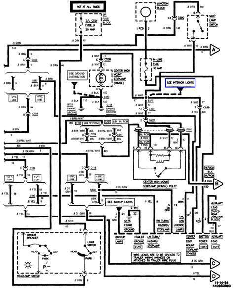 94 gmc ke light relay wiring diagram photos for 94 get
