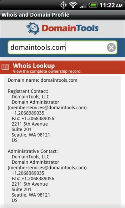Whois Ip Address Lookup Free Domaintools Whois Lookup Apk For Android Aptoide