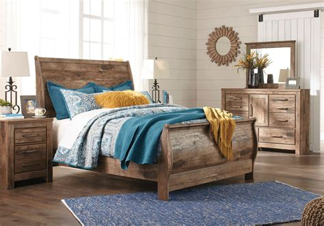 queen sleigh bedroom set blaneville queen sleigh bedroom set lexington overstock