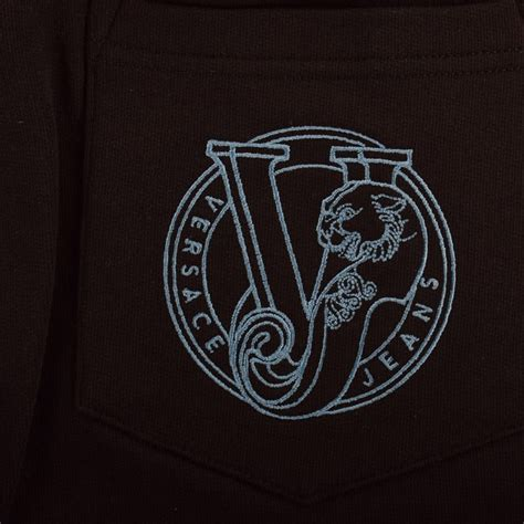 logo versace black versace versace black logo jogger shorts versace from brother2brother uk