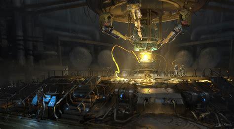sci fi laboratory sound focusing noise masking high energizing chamber by finnian macmanus fantasy sci fi