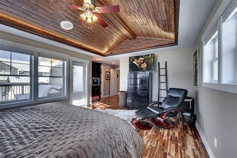 master bedroom  vaulted wood ceiling traditional bedroom minneapolis  sustainable