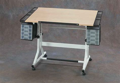Craft Work Tables by Alvin Craftmaster Ii Craft Work Table Maple Top White