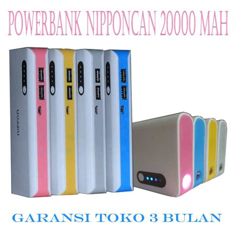 Powerbank Nippon 20000 Mah Sensor power bank murah nipponcan 20000 mah