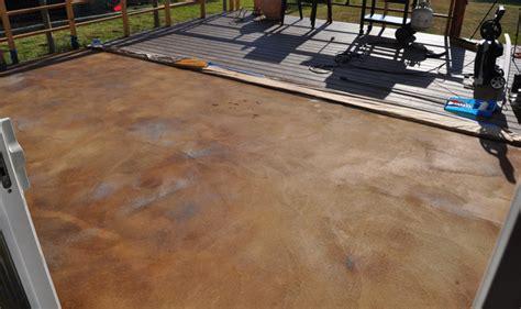acid stain concrete