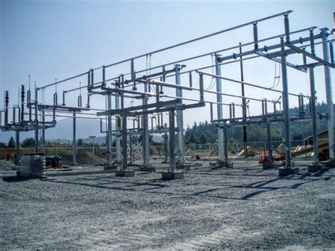 substation capacitor function substation steel structures
