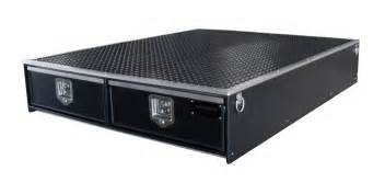truck bed secured storage drawer systems