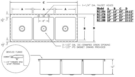 kitchen sink specifications kitchen sink specifications sinkware wl csu3320 99