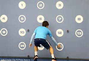 reaction test david silva makes up the numbers during reactions test at