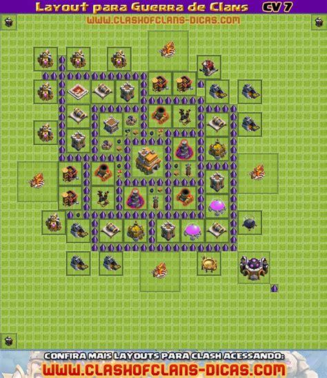 Layout Guerra Cv 7 Dispersor | layouts de cv 7 para guerra de clans clash of clans