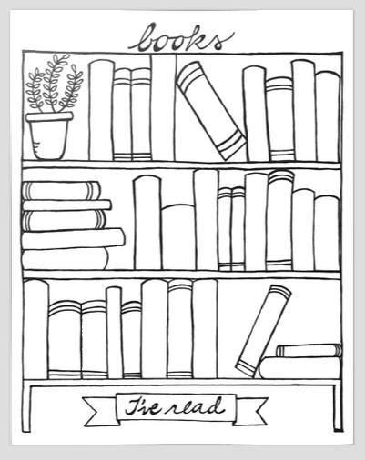 buy coloring book pdf - Books I\'ve Read bookshelf graphic organizer ...