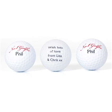 set of personalised no1 golfer golf ball buy from