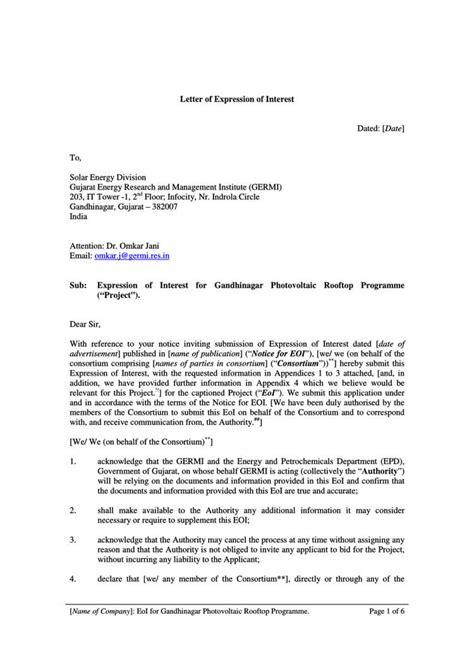 letter of interest sample letter of intent for applying a job bunch