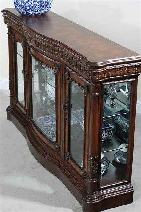 classica curio console w serpentine front mirror back