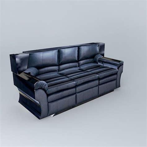 dark blue couch sofa leather dark blue free 3d model max obj 3ds fbx stl