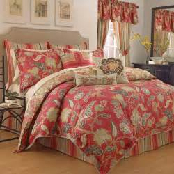 Waverly Bed Sets Waverly Eastern Myth Radish 4 Comforter Set At Hayneedle