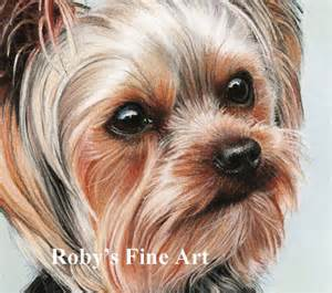 Roby Toy Barn Pastel Yorkshire Terrier Quot Elle Quot Dog Art By Roby Baer Psa