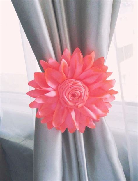 Nursery Curtain Tie Back 1 Pcs Coral Flower Curtain Tie Curtain Tie Backs For Nursery