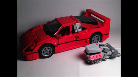 Lego Ferrari F40 by Not Custom Lego Reviews Ferrari F40 Youtube