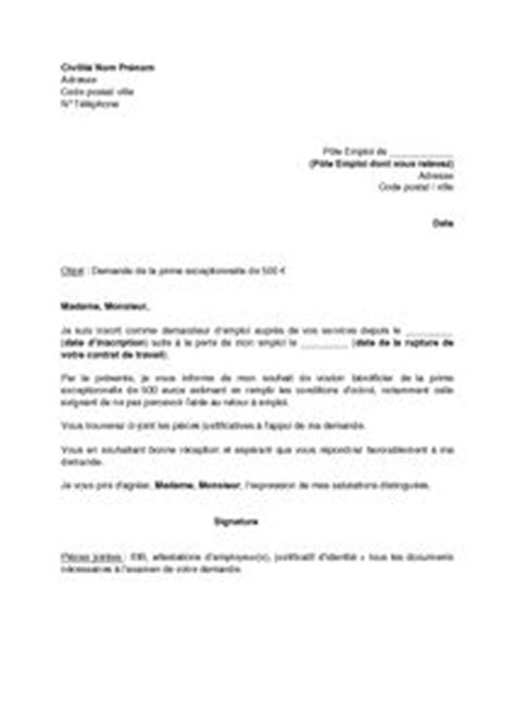 Demande De Prime Lettre 1000 Ideas About Lettre Exemple On