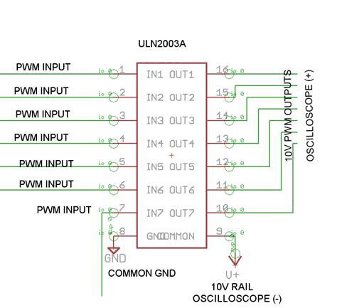 Uln2003a uln2003a darlington transistor not behaving as expected