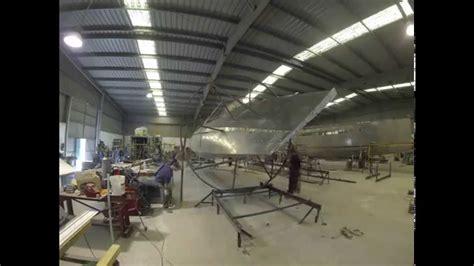 aluminum catamaran hull aluminium catamaran hull rotation youtube
