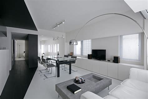 appartment in tokyo modern composition in black white room 407 project in