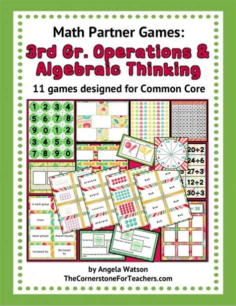 math pattern words operations algebraic thinking games a free hands on