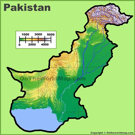where is pakistan on the map pakistan physical map