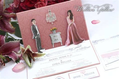 desain undangan pernikahan pop up 30 contoh undangan pernikahan unik dan elegan gebeet com