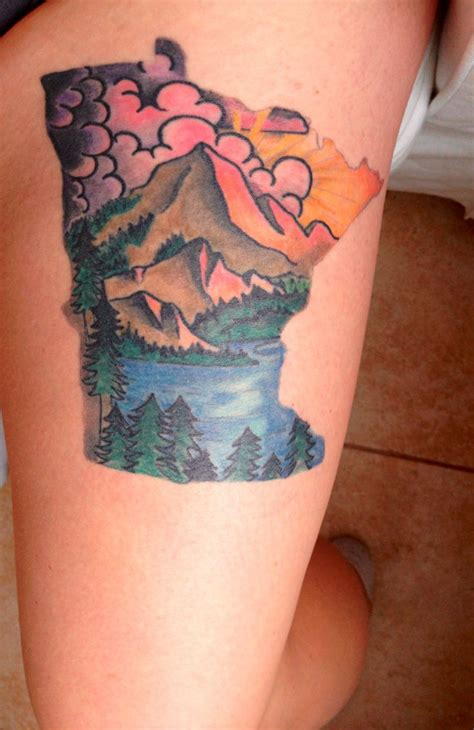 tattoo mn my minnesota thigh