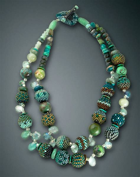 the bead strand 2 strand beaded necklace julie powell design