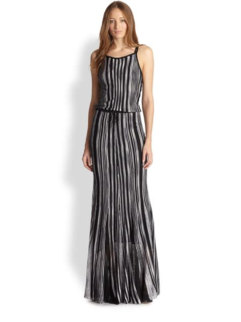 Knit Maxi Dress dory striped knit maxi dress in black lyst