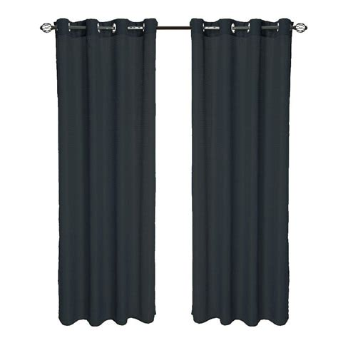 curtain panels 95 length lavish home black olivia jacquard grommet curtain panel