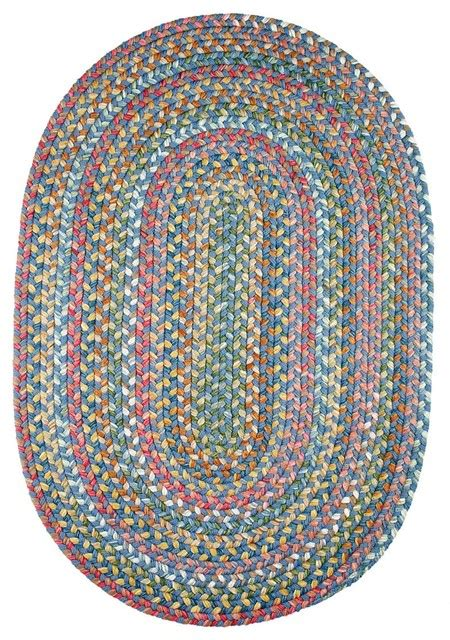 2 X4 Oval Small 2x4 Rug Sapphire Colorful Textured Small Braided Rugs