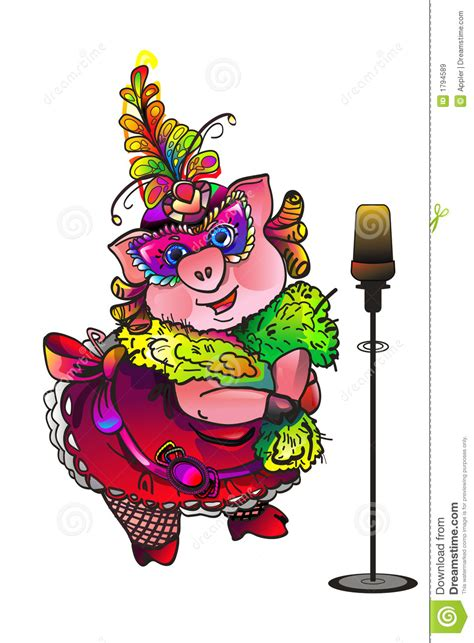 singing pig masquerade royalty  stock images image